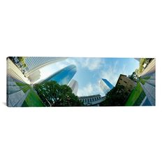 "East Urban Home Panoramic 'Houston, Harris County, Texas' Photographic Print on Canvas Size: 30"" H x 90"" W x 1.5"" D"