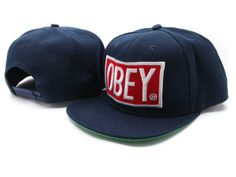 Wholesale OBEY Snapback Hats All Navy : Cheap Hats Wholesale