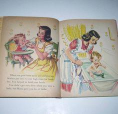 When You Were a Baby 1940s Vintage Children's book
