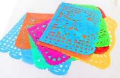 Mexican Party Decor, Papel Picado banner 18 feet long, bunting garland LARGE, fiesta decorations