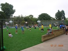 Playground Using SYNLawn  Our synthetic playground turf mimics real grass, cushioning falls and preventing grass stains. Get a free consultation from SYNLawn® of San Diego.