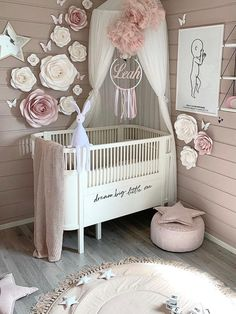 Baby Room Themes, Baby Girl Nursery Themes, Nursery Room Decor, Project Nursery, Baby Girl Cribs, Vintage Nursery Girl, Nursery Curtains, Nursery Sets, Blush Nursery