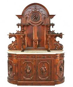 hunt board marble top Victorian Furniture At Grand View Antiques & Auction