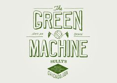 The Green Machine - Jack Muldowney Design Co.
