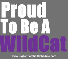 Proud to be a Wildcat!! http://www.bigtenfootballschedule.com/northwestern_football_schedule.html