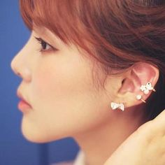 Crystal Bow Stud Earrings from #YesStyle <3 kitsch island YesStyle.com