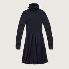 Womens Turtleneck Sweater Dress