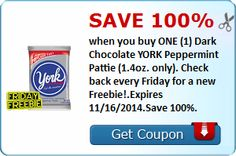 Tri Cities On A Dime: SAVE 100% WHEN YOU BUY 1 DARK CHOCOLATE YORK PEPPE...