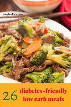 26 diabetes friendly low carb meals