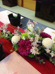 Japanese Wedding, Japanese Modern, Wedding Table Flowers, Wedding Centerpieces, Table Arrangements, Floral Arrangements, Wedding Prep, Japan Art, Ikebana