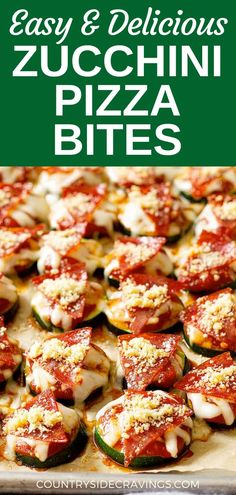 Our Easy and delicious Zucchini Pizza Bites are a great way to use that abundance of zucchini you may have! Plus, they're healthy and kid-friendly - the perfect summer recipe. Dinner Party Recipes, Appetizers For Party, Appetizer Recipes, Zucchini Side Dishes, Vegetable Side Dishes, Bean Recipes, Side Dish Recipes, Healthy Snacks, Healthy Eating