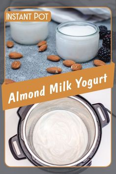 Wanna make Instant Pot Almond Milk Yogurt? My name is Corrie and I am here to help! Oh and I also have FREE pressure cooker recipes especially for you :) Homemade Yogurt Recipes, Almond Milk Recipes, Homemade Almond Milk, Instant Pot Yogurt Recipe, Best Instant Pot Recipe, Crock Pot Almonds, Dairy Free Yogurt, Lactose Free Yogurt Recipe, Almond Milk Yogurt