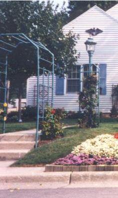 Arco para el Jardín con base de pvc