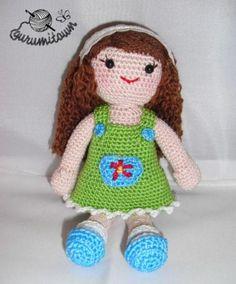 Muñeca mónica amigurumi