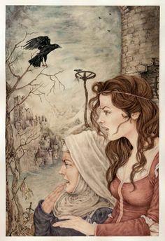 La storia della vergine Malvina Fratelli Grimm Illustrazione di Lucia Campinoti
