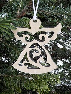 Wooden Angel Ornaments Christmas Angel Ornaments Christmas Tree Decor Christmas…
