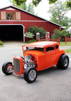 This #HotRod just looks so cool in orange. #Custom #Style #Design #Art #Beauty #Power #Speed #Classic