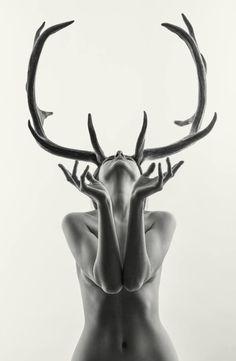 "Saatchi Art Artist Laurence Winram; Photography, ""Nude - Mihaela as Cerynitis…"
