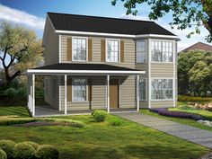 Wrap your eyes around this awesome wrap-around porch on our Orleans plan! #UBH #UBHFamily #CustomBuilt