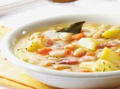 Découvrez la recette Soupe paysanne aux haricots blancs sur cuisineactuelle.fr.