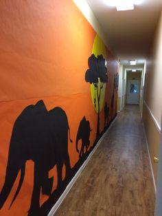 Elephant prop for Aberdeen Alliance Camp Kilimanjaro Safari VBS. Safari Theme, Jungle Theme, Group Vbs, Afrique Art, Vbs Themes, Safari Decorations, Casamance, Animal Silhouette, Sunset Silhouette