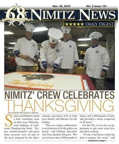 Nimitz News Daily Digest - Nov. 30, 2013