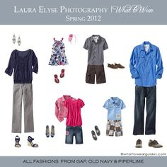 Cute outfits for a family photo session courtesy of Laura Elyse Photography!