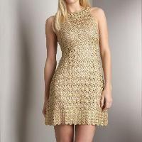 Crochet lace summer dress.ThePC.