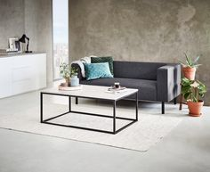 Coffee table DOKKEDAL 75x115 grey/black