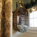10 Creative, Affordable Bathroom Storage Ideas: Hang a Vintage Basket on a Hook