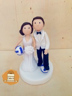 Cake topper for the wedding of a couple of volleyball lovers!!