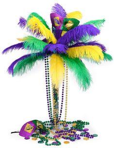 Party Ideas by Mardi Gras Outlet DIY Mardi Gras Feather Tree Centerpiece  sc 1 st  Pinterest & Elegant Mardi Gras Table Centerpieces | Package of 6 Mardi Gras ...