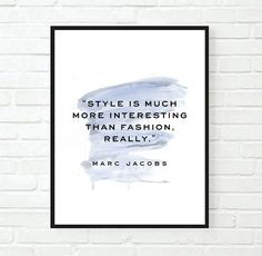 printable 8x10 fashion is art quote Typographic Print Quote decor marc jacobs quote bedroom poster print framed quote tumblr room decor