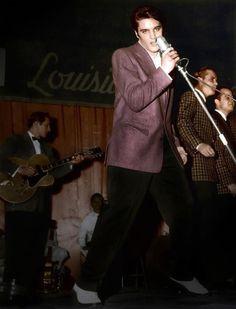 Elvis Presley in action.