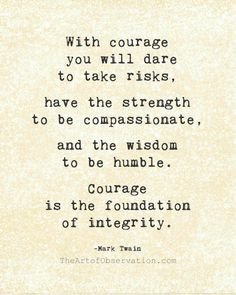 Life Quote Courage Mark Twain typography by theartofobservation, $25.00