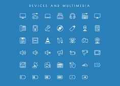 4.free vector line icons