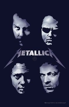 Self -initiated art for Metallica James Metallica, Metallica Tattoo, Metallica Art, Black Metal, Heavy Metal Rock, Heavy Metal Bands, Power Metal, Rock Posters, Band Posters