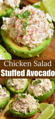 Stuffed Avocado makes a healthy meal made with creamy ripe a.- Stuffed Avocado makes a healthy meal made with creamy ripe avocados stuffed with easy rotisserie chicken salad and flavored with seasoning and lime juice. Rotisserie Chicken Salad, Chicken Salad Recipes, Healthy Rotisserie Chicken Recipes, Chicken Salad Recipe Easy Healthy, Chicken Salads, Recipe Chicken, Shrimp Recipes, Salmon Recipes, Healthy Nutrition