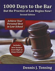 """Think like a lawyer, write like a lawyer, study like a lawyer -- PRACTICE being a lawyer -- to achieve your personal best in law school. Find the book: <a href=""""http://www.amazon.com/1000-Days-Bar-Practice-Begins/dp/083773813X"""" rel=""""nofollow"""" target=""""_blank"""">www.amazon.com/...</a>"""