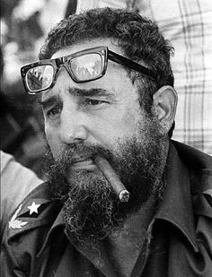 """I mean look at these glasses and the cigar.  Doesn't this scream I am in charge!   I believe the phrase """"Fear the Beard"""" came from Fidel."""