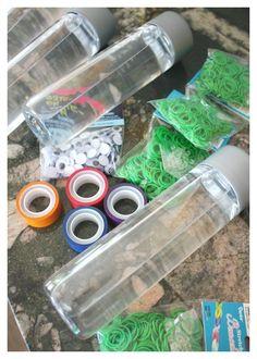 Teenage Mutant Ninja Turtle Sensory Bottle Loom Bands TMNT Activity