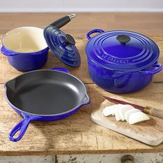 Love this color blue and who doesn't love Le Creuset?!