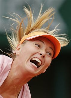 Russia's Maria Sharapova serves the ball to Bulgaria's Tsvetana Pironkova during the second round match of the French Open tennis tournament at the Roland Garros stadium, in Paris, France, Wednesday, May 28, 2014. (AP Photo/David Vincent) ▼29May2014AP|What to look for Friday at the French Open http://bigstory.ap.org/article/what-look-friday-french-open #Maria_Sharapova #French_Open #Internationaux_de_France_de_tennis #Torneo_de_Roland_Garros