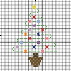 simple small christmas tree crosstitch designs - Google Search