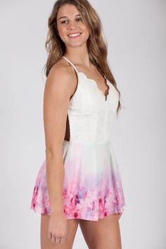 Lotus Boutique - Backless Floral Playsuit  #NewArrivals, #Playsuits, #Rompers