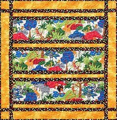 Jingle Jangle Jungle Quilt Pattern by Tricia Cribbs www.TurningTwenty.com