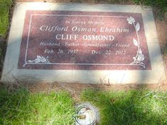 Cliff Osmond - Find A Grave Memorial Woodlawn Cemetery, Walter Matthau, Cemetery Decorations, Billy Wilder, Cult Movies, Films, Famous Graves, Grave Memorials, Find A Grave