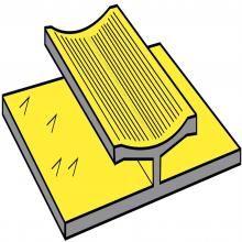 Aluminium Dual Edge Gold 2.70m Length