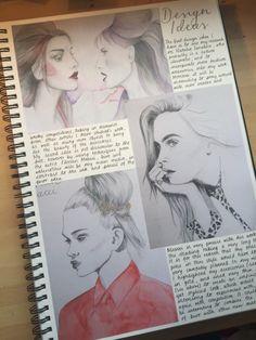 Design Ideas in my sketchbook, drawings by moi
