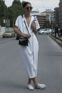 It may be the spring 2015 menswear shows, but there are a lot of stylish ladies milling about Milan Fashion Week